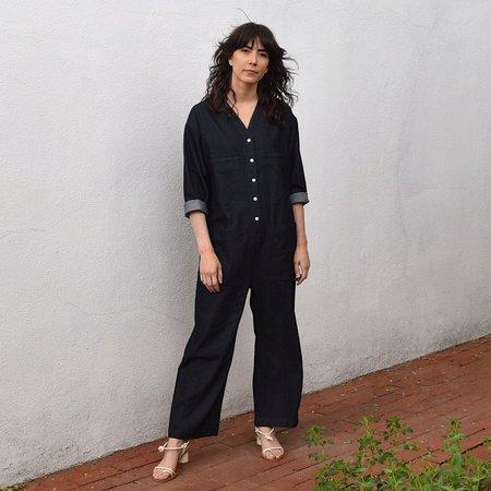 Ilana Kohn Tuck Coverall - Indigo Denim