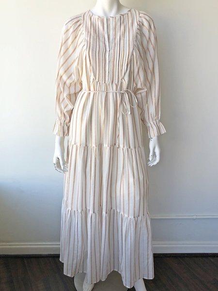 29f37b155631a Apiece Apart Francesca Bib Tier Dress - Cream ...