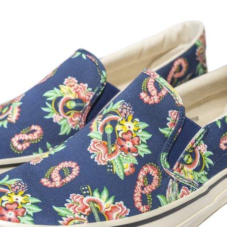 Sugar Cane Sun Surf Slip On Shoes - Macintosh Ukulele Navy