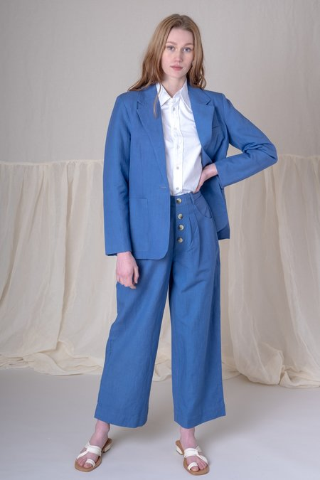 Ajaie Alaie BE THE WOMAN TROUSERS - BLUE LINEN
