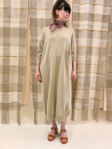 Lauren Manoogian Big Crewneck Dress - Antique