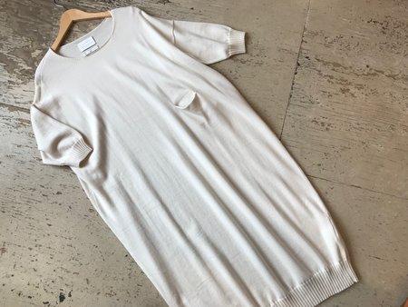 Lauren Manoogian Big Crew Neck Dress - cream