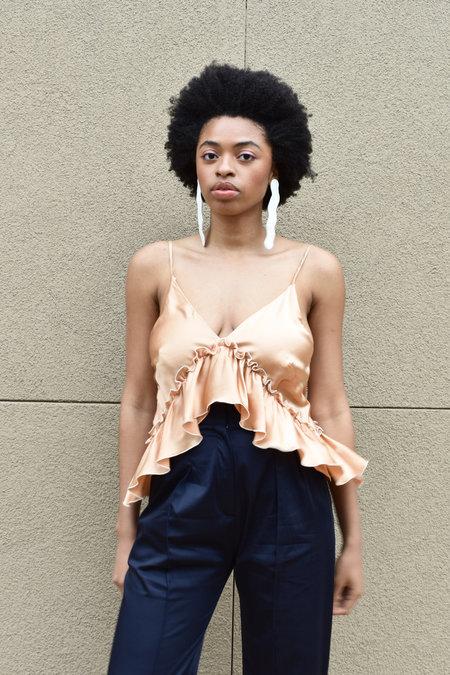 ARCANA Lilith Convertible Slip Dress - Apricot