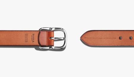 Shinola Center Bar Beveled Belt - Bourbon