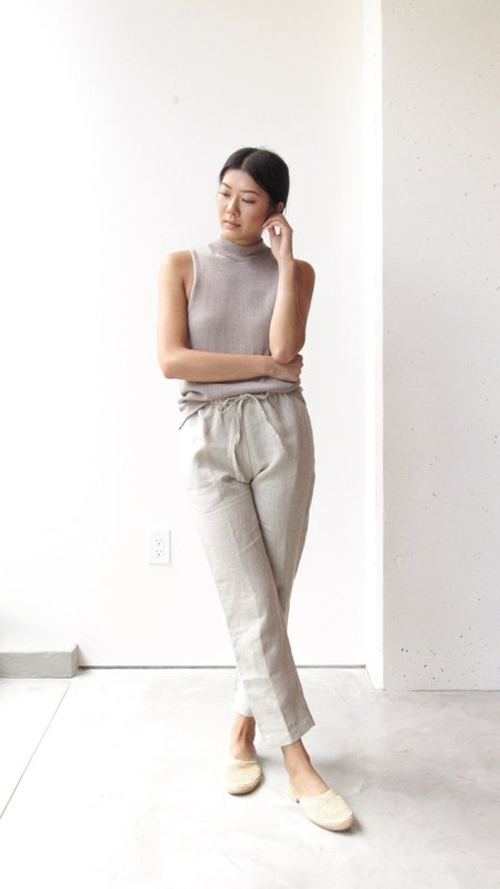 at Dawn. Linen Drawstring Pants