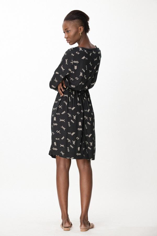 Osei-Duro Aburi Dress in Black Jot
