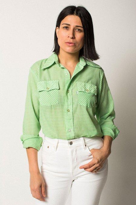 Preservation Vintage Levi's Gingham Button-Up - Green