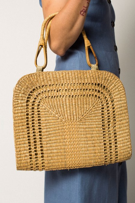 Preservation Vintage Woven Straw Bag
