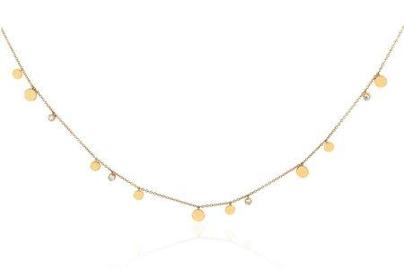 EF Collection GOLD & DIAMOND CONFETTI CHAIN NECKLACE