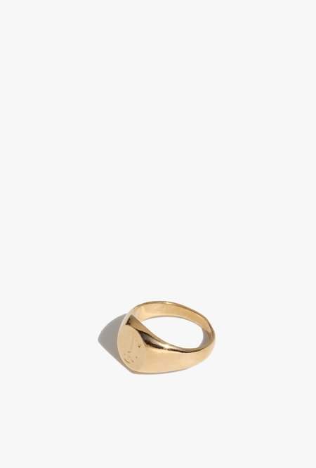 Wolf Circus Matisse Signet Ring - 14k gold plated