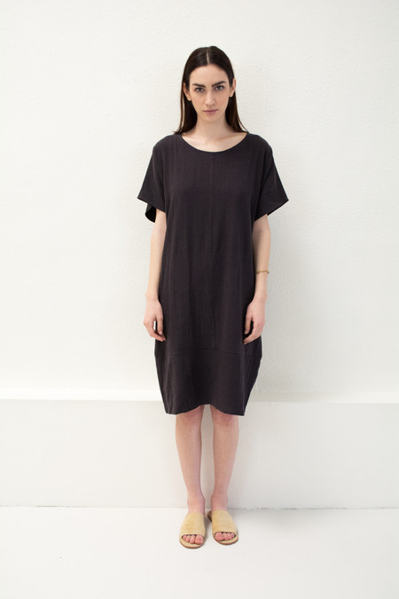 Micaela Greg Black Keyhole Dress