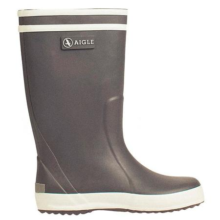 KIDS Aigle Lolly Pop Rubber Boots - Charcoal Grey