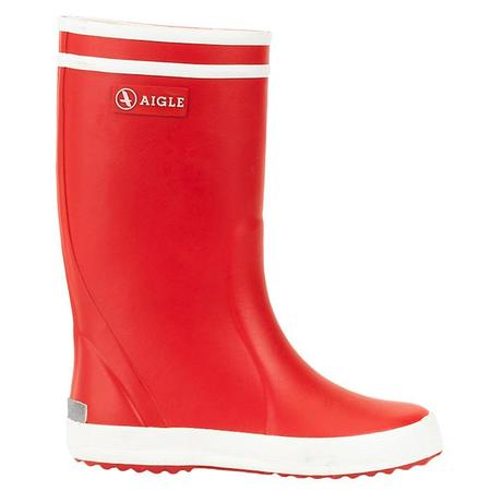 KIDS Aigle Lolly Pop Rubber Boots - Rouge Red/White