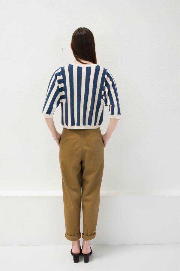 Micaela Greg Navy Reverse Stripe Sweater