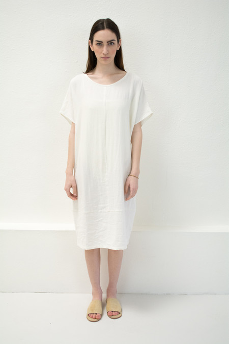 Micaela Greg White Keyhole Dress