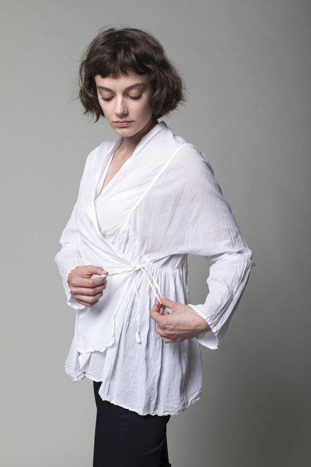 Toujours Kedia Wrap Blouse - Smoke White
