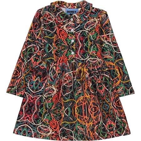 KIDS Romey Loves Lulu Rubber Bands Collared Dress