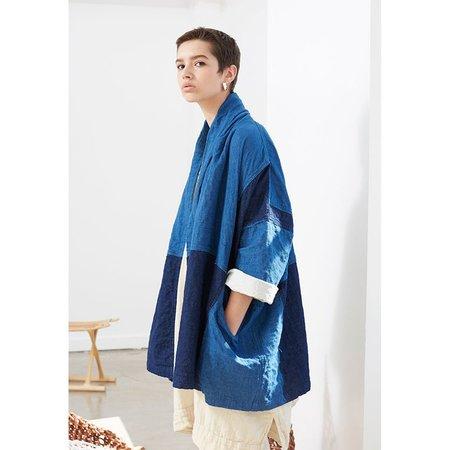Atelier Delphine Haori Coat - Indigo Patchwork