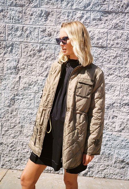 Ganni Aspen Army Liner Jacket - Aloe