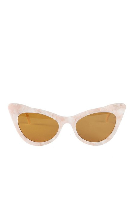 Ganni Lulu Sunglasses - Silver Pink