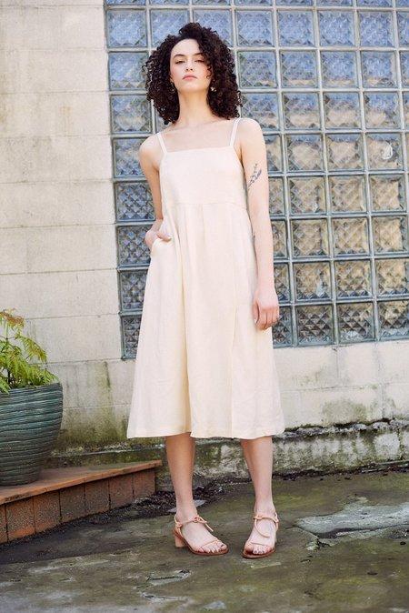 First Rite Pleated Dress - Bone