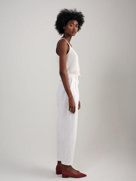 Odeyalo SNACK N' BLUES linen pant - white