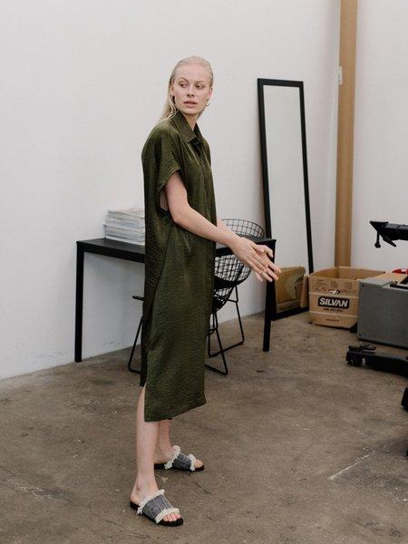 Priory Placket Dress - Slinky Olive