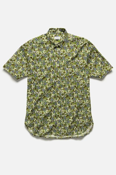 House of St. Clair CHICON SHIRT - OLIVE FLORAL