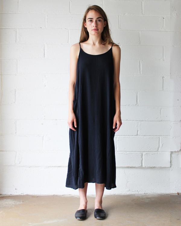 Esby LYLA SLIP DRESS - BLACK INK