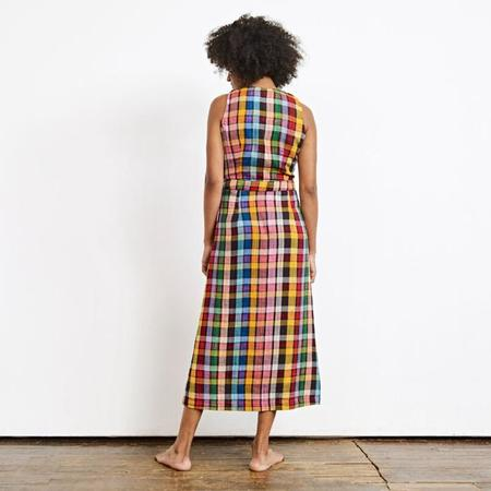 Ace & Jig Phoebe Button Dress - Dream Rainbow Plaid