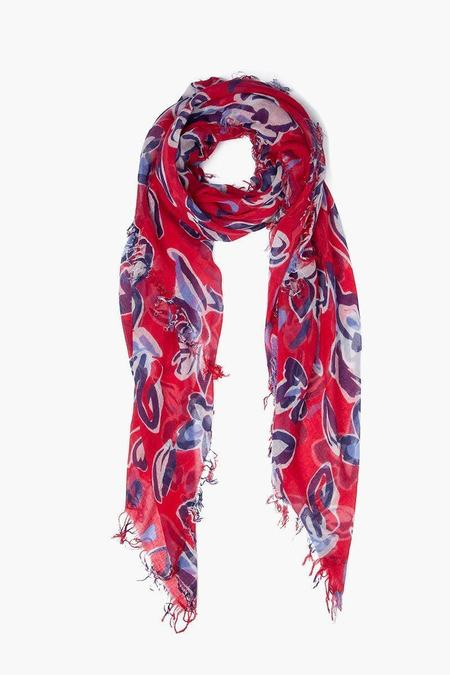 5671769092cb ... Chan Luu Cashmere and Silk Scarf - Barbados Cherry Painterly Floral