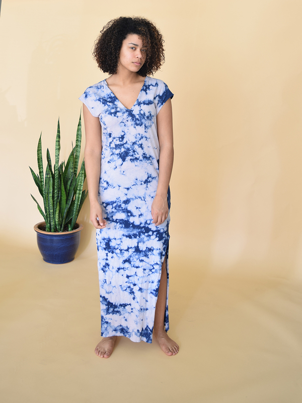 LNA V Maxi Tie Dye Dress