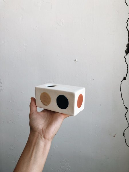 The Object Enthusiast Rectangle Box Vase - Dot