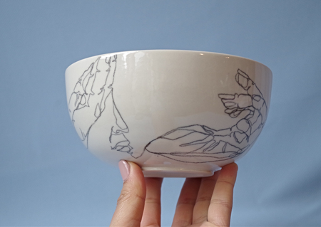 MACDOUGALL STUDIOS ILLUSTRATED HAND + FACE BOWL