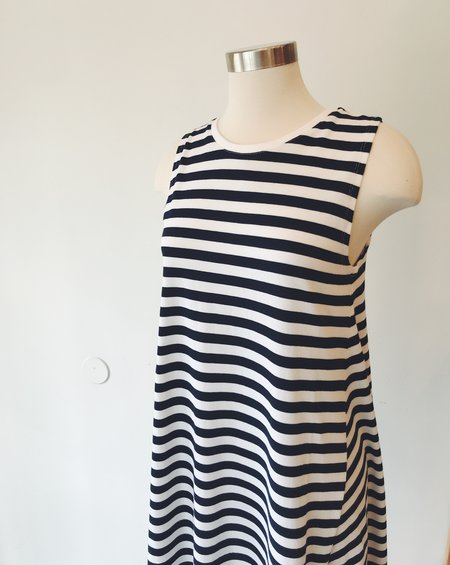 Kowtow Tank Swing Dress - Navy/White Stripe