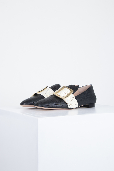 BALLY Janelle Loafers - Perfo Black