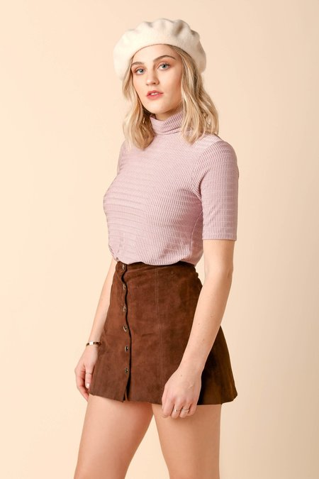 Dolores Haze Georgia Turtleneck - Ballet Pink