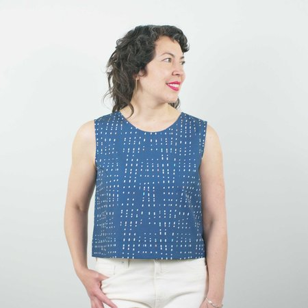 Jennifer Glasgow Tenaya Top - Violet Print