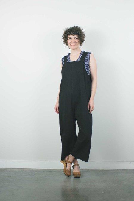 Lu. The New World No. 2, Linen Jumpsuit - Black
