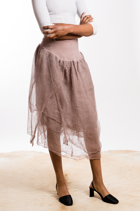 Marc le Bihan Stretch Silk Skirt