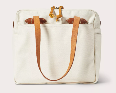 Filson Tote Bag with Zipper - Natural