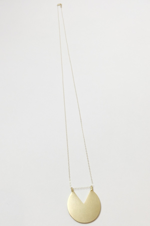 """Baleen Subtracted """"V"""" Necklace"""