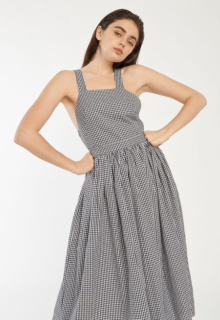 Toit Volant Nola Dress - black gingham