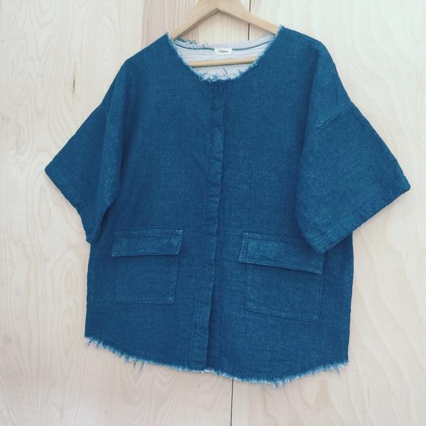 Savannah Shirt Jacket Atelier Delphine. Indigo Dyed