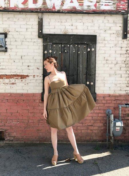 Caron Callahan Sia Dress - Khaki Poplin