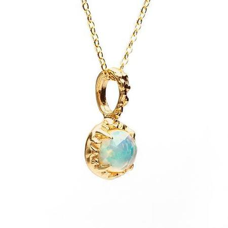 Angela Monaco Matrix Halo Necklace - Gold/Opal