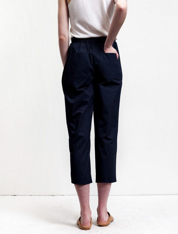 Organic by John Patrick Pull-on Pants Navy