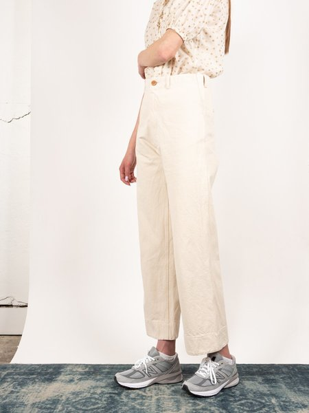 Caron Callahan Greene Pant - Cream Canvas