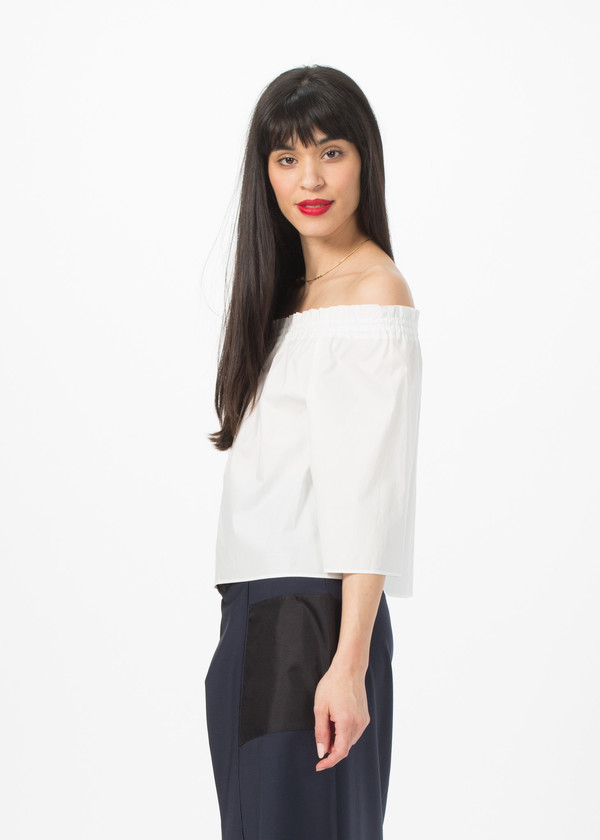 NICO Elle Blouse - White