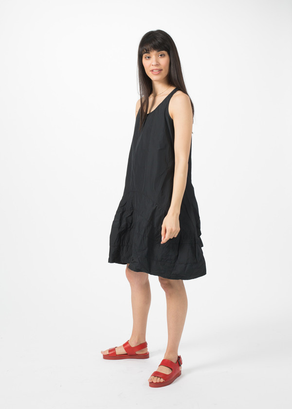 Rundholz BL Sleeveless Flare Dress - Black